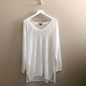 Eileen Fisher Linen Cotton Slub Knit V-Neck Tunic
